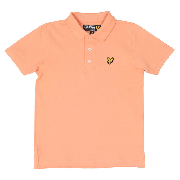 Lyle And Scott Junior Boys Orange Classic Marl Polo Shirt main image