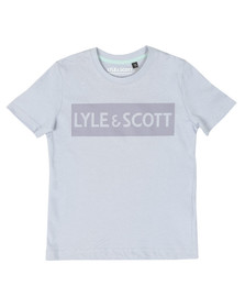 Lyle And Scott Junior Boys Blue Block Logo T Shirt
