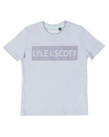 Lyle And Scott Junior Boys Blue Block Logo T Shirt