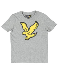 Lyle And Scott Junior Boys Grey Eagle Logo T Shirt