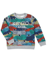 Logo Multi Pattern Sweatshirt