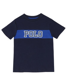 Polo Ralph Lauren Boys Blue Big Polo Logo T Shirt