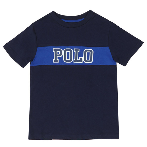 Polo Ralph Lauren Boys Blue Big Polo Logo T Shirt main image