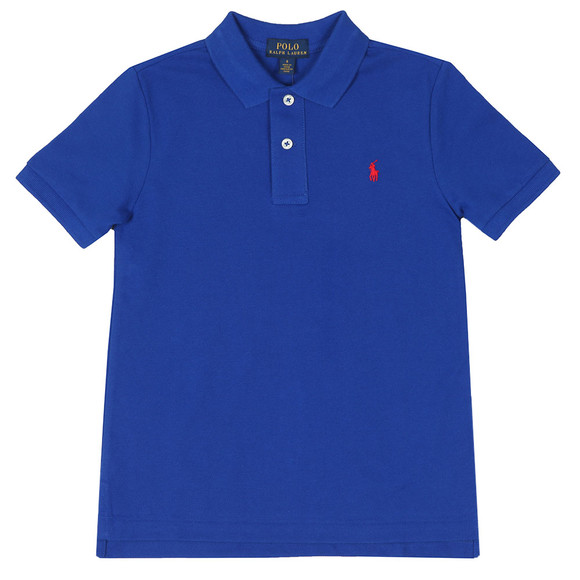 Polo Ralph Lauren Boys Blue Pique Polo Shirt main image