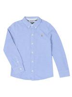 Long Sleeve Knit Oxford Shirt