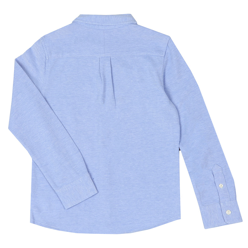 Long Sleeve Knit Oxford Shirt main image
