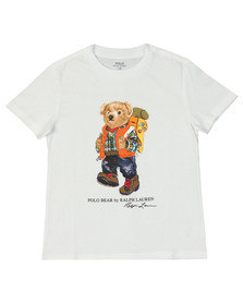 Polo Ralph Lauren Boys White Spring Bear T Shirt