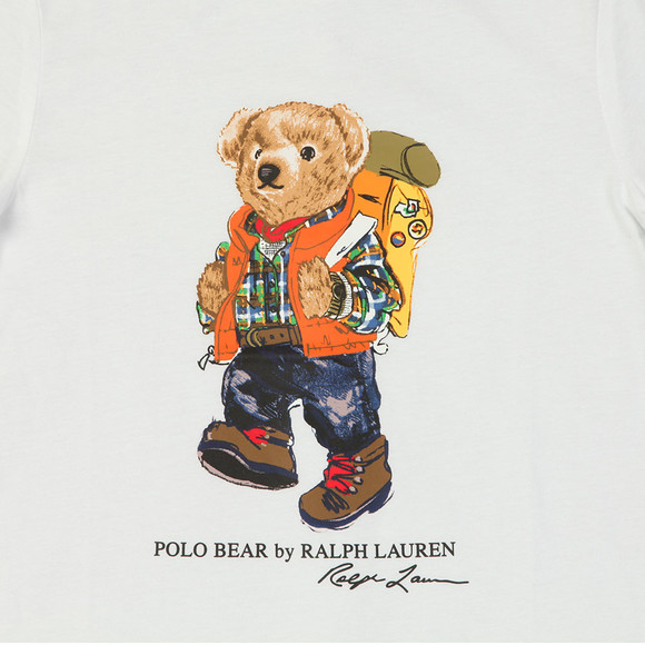 Polo Ralph Lauren Boys White Spring Bear T Shirt main image