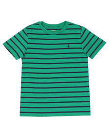 Polo Ralph Lauren Boys Green Stripe Crew T Shirt