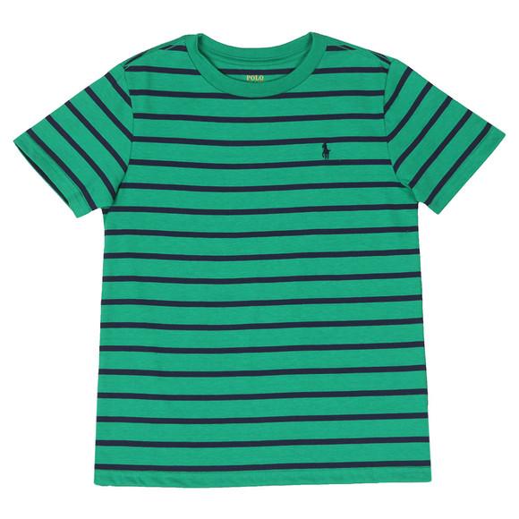 Polo Ralph Lauren Boys Green Stripe Crew T Shirt main image