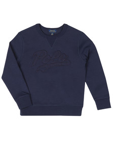 Polo Ralph Lauren Boys Blue Signature Logo Sweatshirt