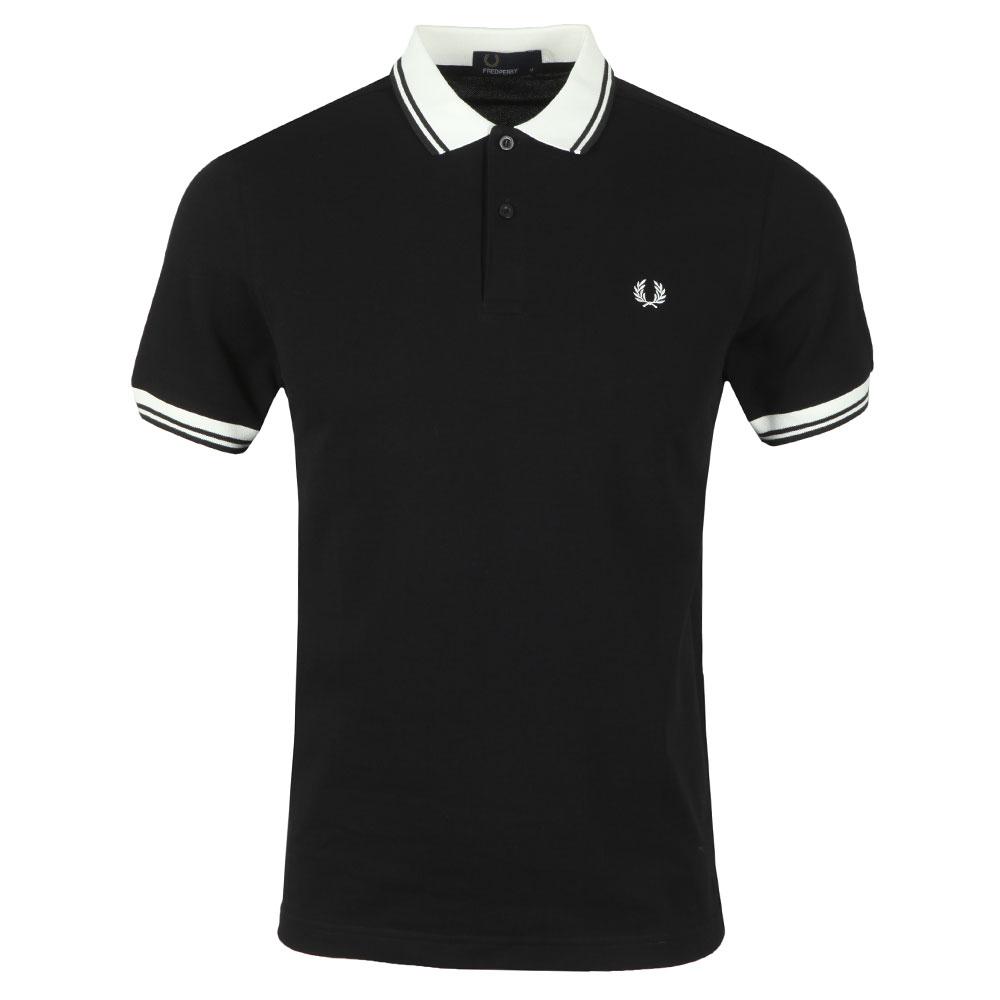 Contrast Rib Pique Polo Shirt main image