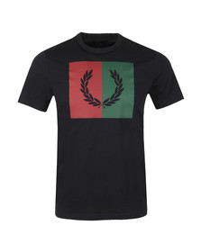 Fred Perry Mens Blue Split Laurel Wreath Tee