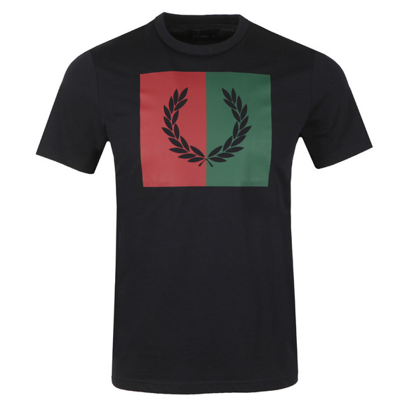Fred Perry Mens Blue Split Laurel Wreath Tee main image