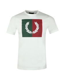 Fred Perry Mens White Split Laurel Wreath Tee