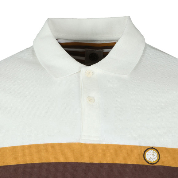 Pretty Green Mens Brown Front Colour Block Polo main image