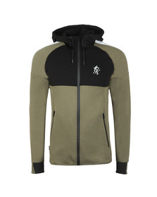 Gym King Mens Green Lombardi Full Zip Hooded Sweat