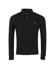 Polo Ralph Lauren Mens Black Long Sleeve Slim Fit Polo Shirt