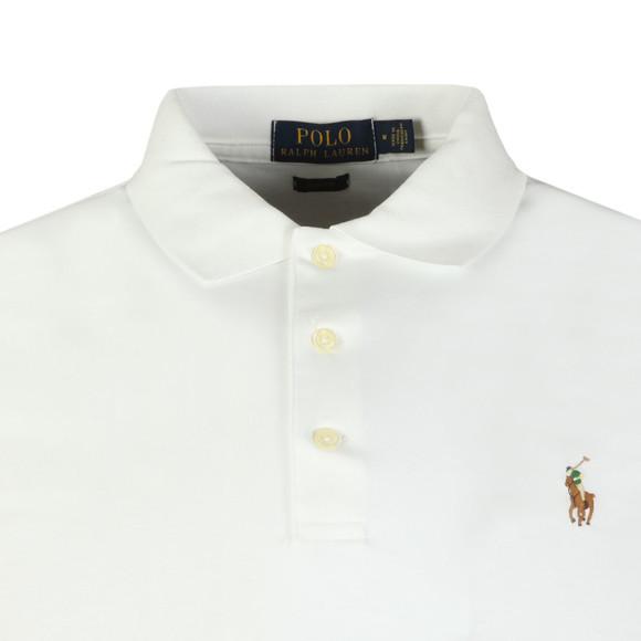 Polo Ralph Lauren Mens White Slim Fit Pima Polo Shirt