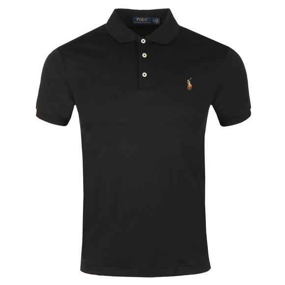 Polo Ralph Lauren Mens Black Slim Fit Pima Polo Shirt