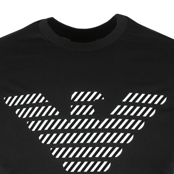 Emporio Armani Mens Black Chevron Eagle T Shirt main image