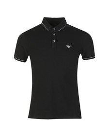 Emporio Armani Mens Black Tipped Polo Shirt