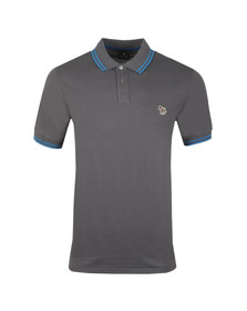 PS Paul Smith Mens Grey Tipped Zebra Polo