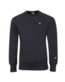 Champion Reverse Weave Mens Blue Small Logo Sweatshirt