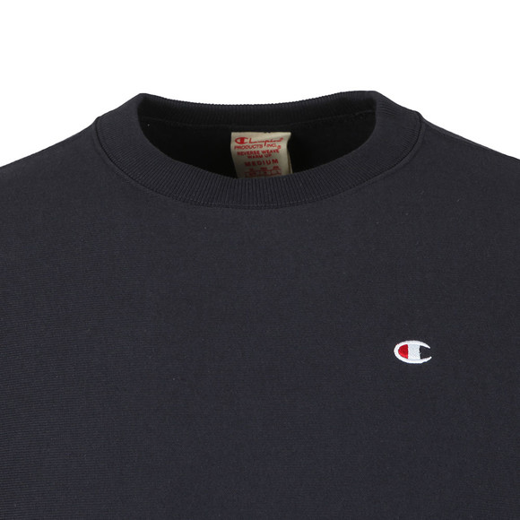 Champion Reverse Weave Mens Blue Small Logo Sweatshirt main image