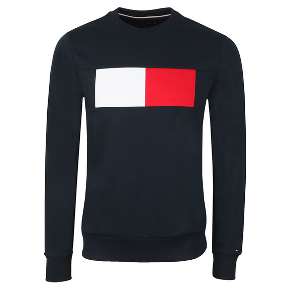 Tommy Hilfiger Mens Blue Flag Chest Sweat main image