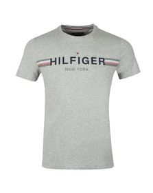Tommy Hilfiger Mens Grey Corp Flag Tee