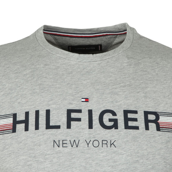 Tommy Hilfiger Mens Grey Corp Flag Tee main image