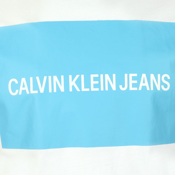 Calvin Klein Jeans Mens White Box Logo T-Shirt main image