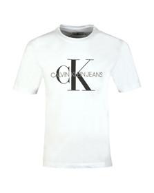 Calvin Klein Jeans Mens White Monogram Tee