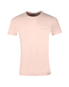 Calvin Klein Jeans Mens Pink Chest Institutional Tee