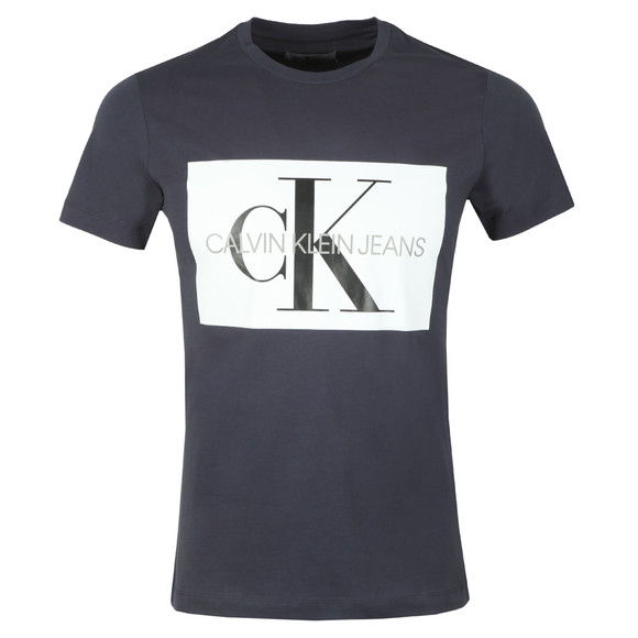 Calvin Klein Jeans Mens Blue Monogram Box Tee main image