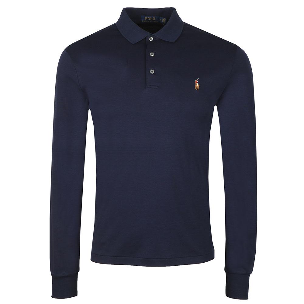 Long Sleeve Slim Fit Pima Cotton Polo Shirt