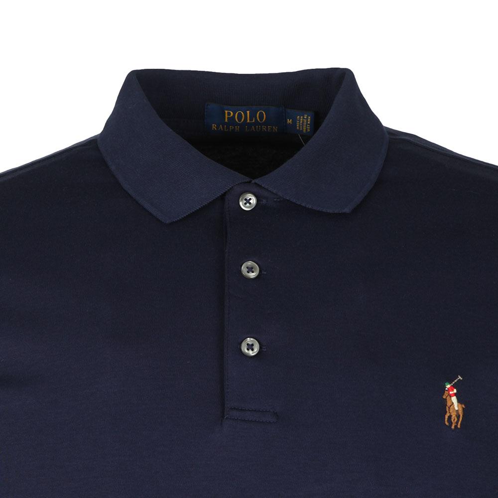 Blue Slim Long Cotton Shirt Pima Polo Fit Sleeve Mens vN08Onmw