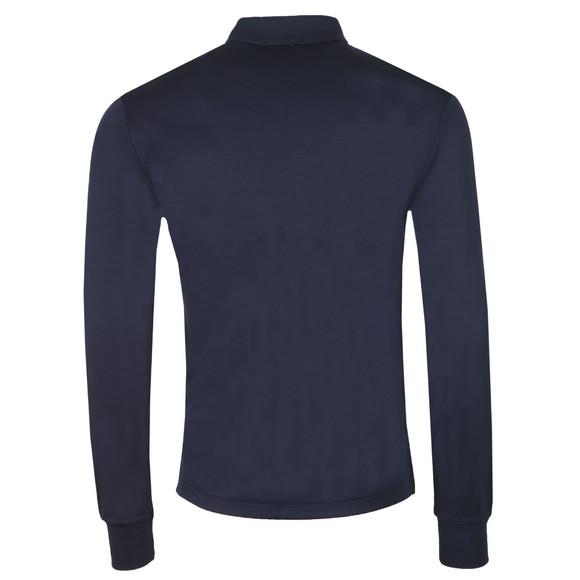 Polo Ralph Lauren Mens Blue Long Sleeve Slim Fit Pima Cotton Polo Shirt main image