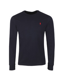 Polo Ralph Lauren Mens Blue Custom Slim Fit Long Sleeve T Shirt