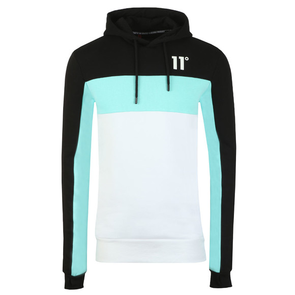 Eleven Degrees Mens Blue Rubix Block Hoodie main image