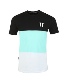 Eleven Degrees Mens Blue Rubix Triple Panel Tee