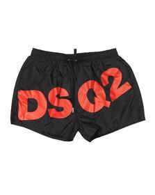 Dsquared2 Mens Black Big Logo Swim Short