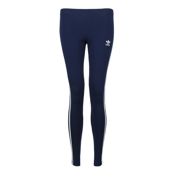 adidas Originals Womens Blue 3 Stripe Leggings main image