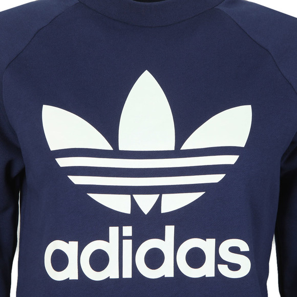 adidas Originals Womens Blue Large Trefoil Crew Sweatshirt main image