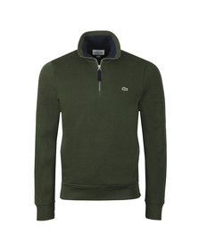 Lacoste Mens Green 1/2 Zip Sweat