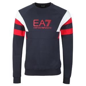 Sleeve Detail Crew Sweatshirt