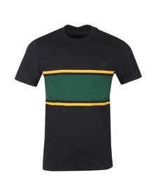 Fred Perry Mens Blue Colour Block Tee