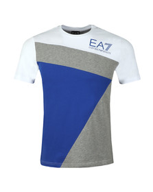 EA7 Emporio Armani Mens White Triple Panel T Shirt