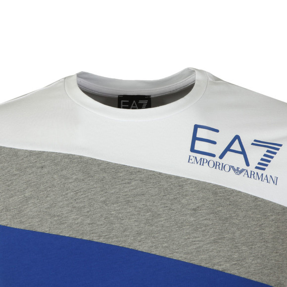 EA7 Emporio Armani Mens White Triple Panel T Shirt main image